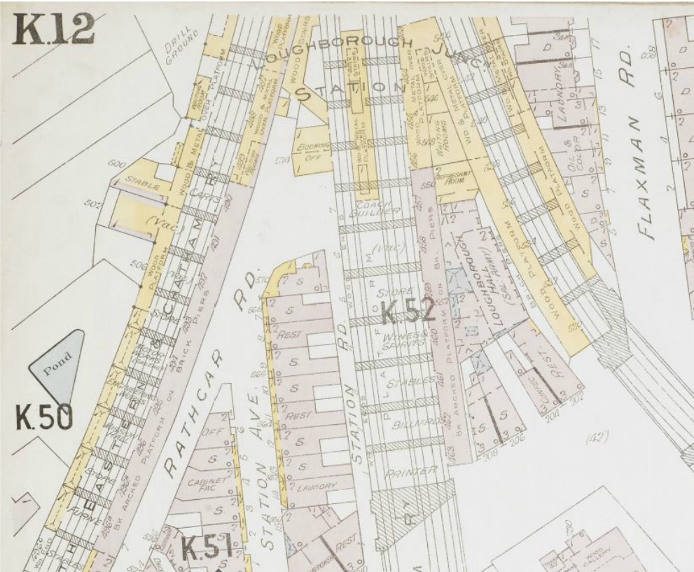 Loughborough Junction station layout in 1903